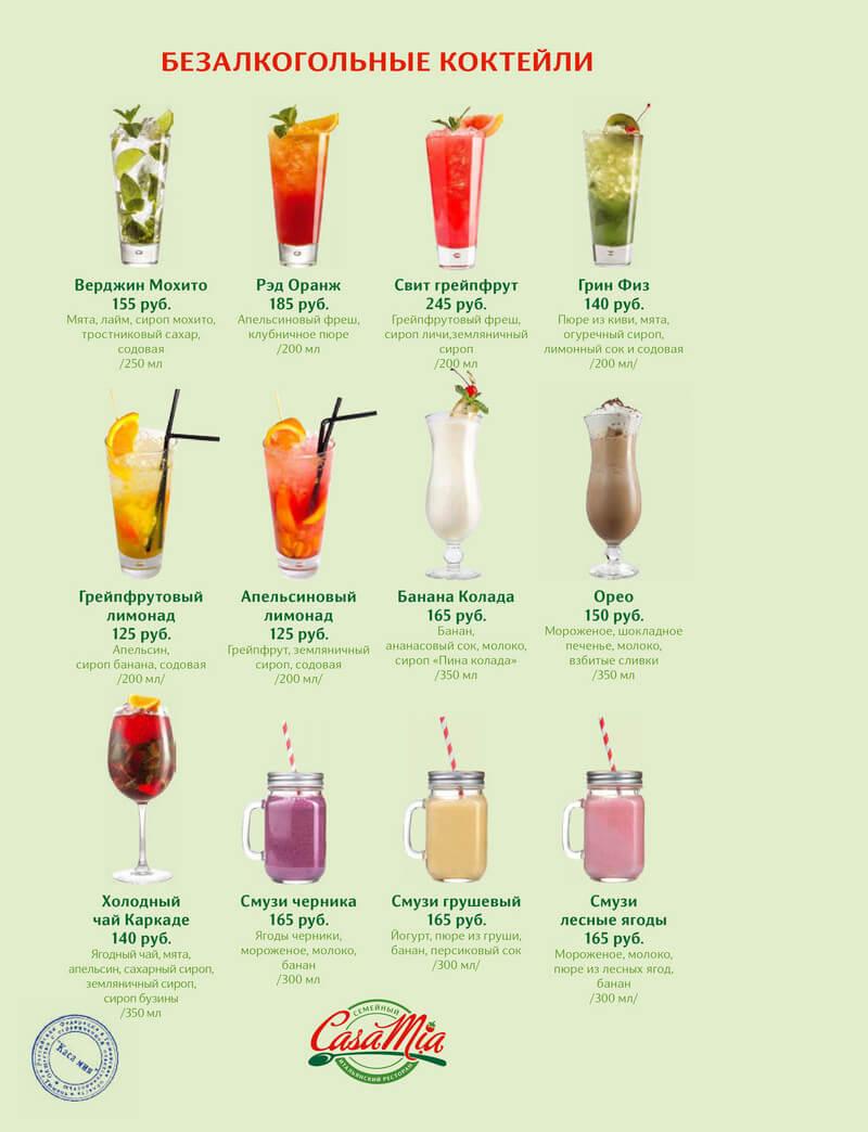 Безалкогольные коктейли. сделать в домашних условиях