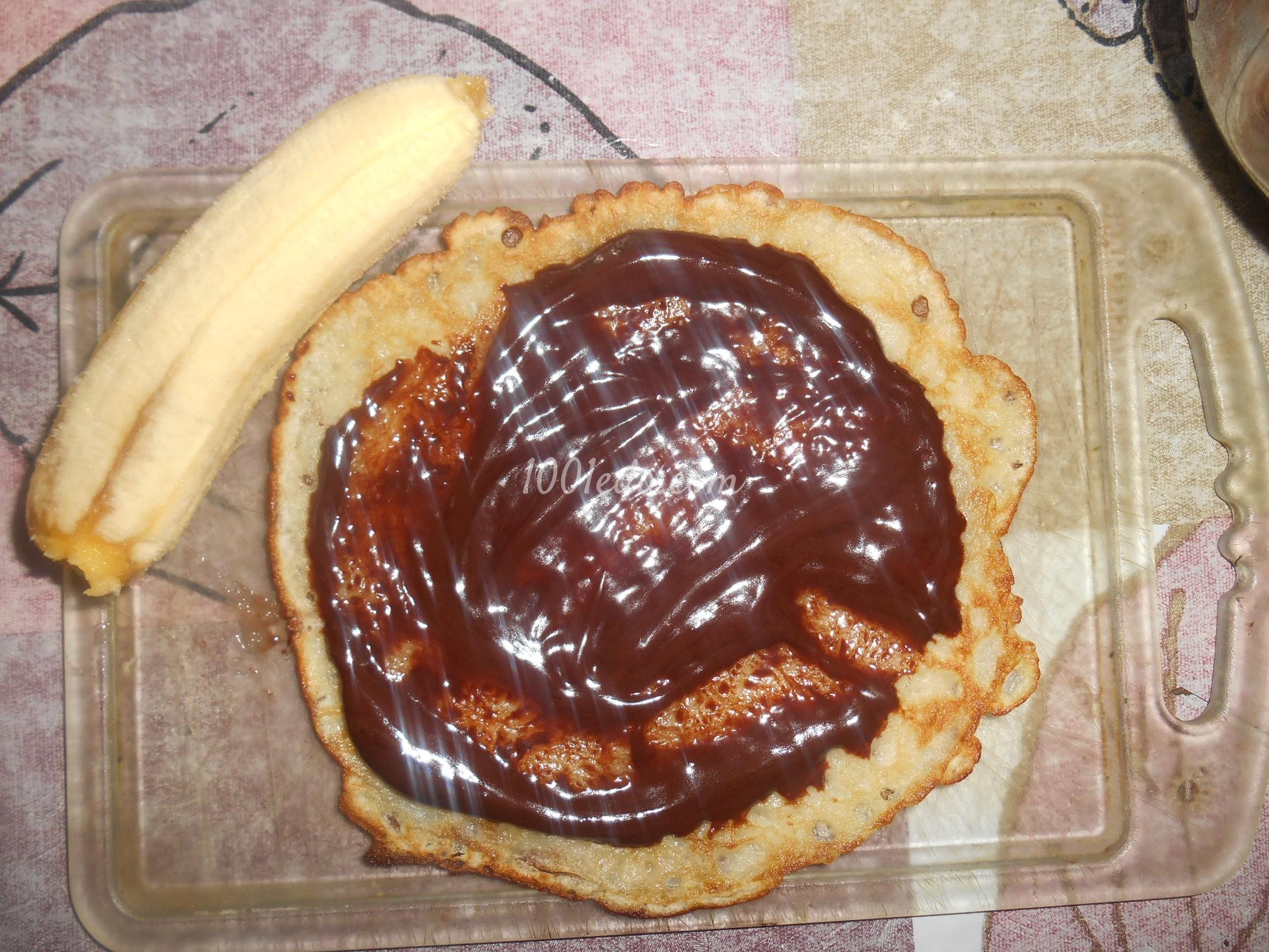 Блины с бананами рецепт с пошагово самый