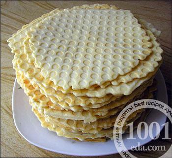 Как сделать торт из вафельных коржей покупных