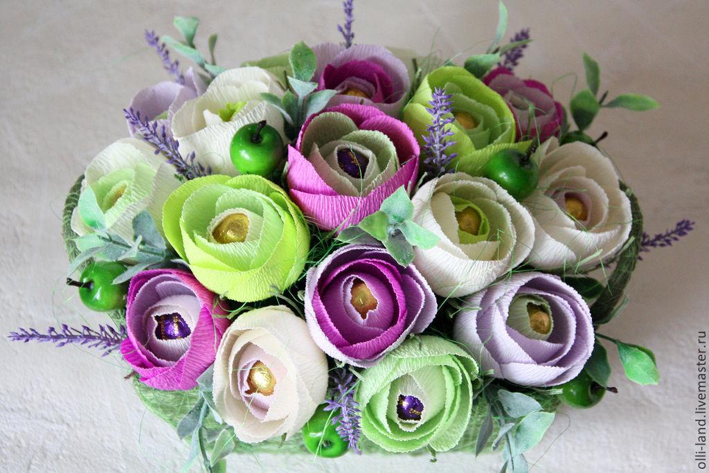 Розы для букета из конфет мастер класс видео - Russkij-Litra.ru