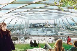 Над «Зарядьем» построят деревянно-стеклянную крышу площадью 10 тысяч квадратных метров