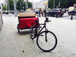 «Афиша» запускает велорикшу по новой велополосе