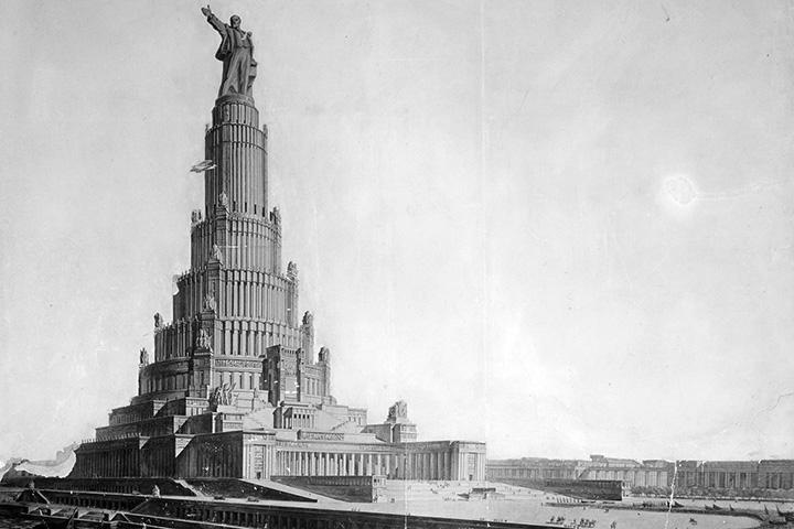 Фундамент Дворца Советов