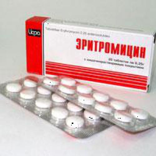 Эритромицин для лечения простатита