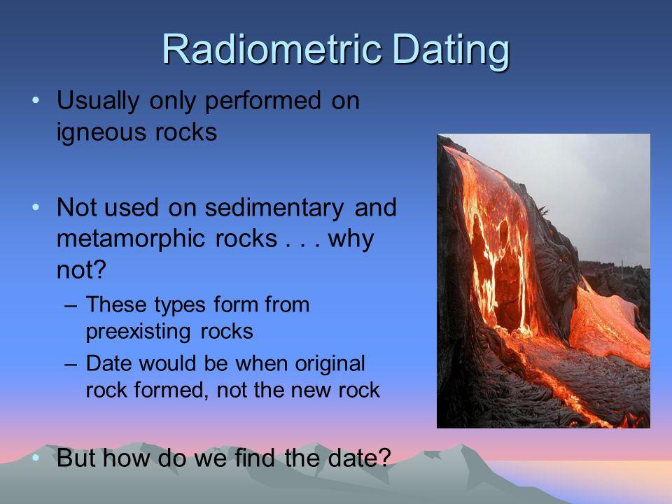 Radiometric dating best rocks