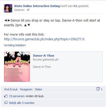 Dating websites via facebook