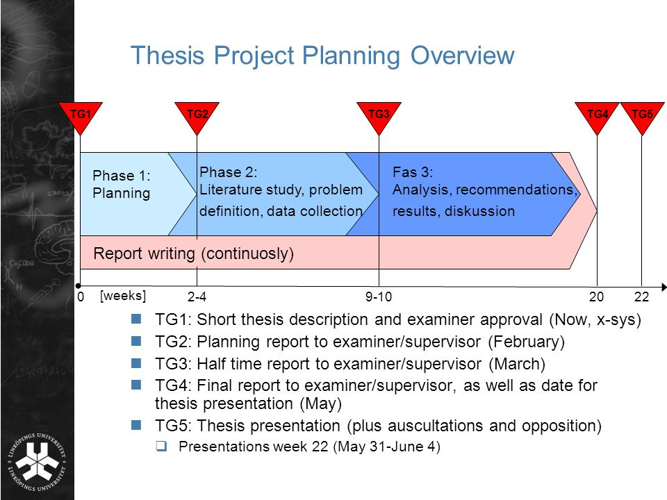 Project planning thesis