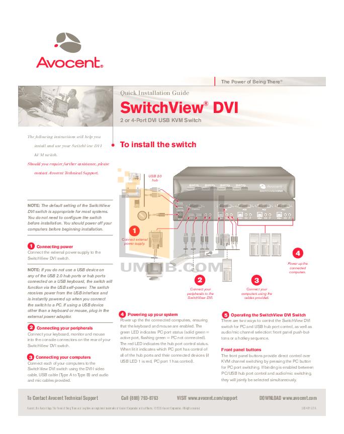 Avocent switchview 4-port 520-195-005 kvm switch cybex manual   ebay.
