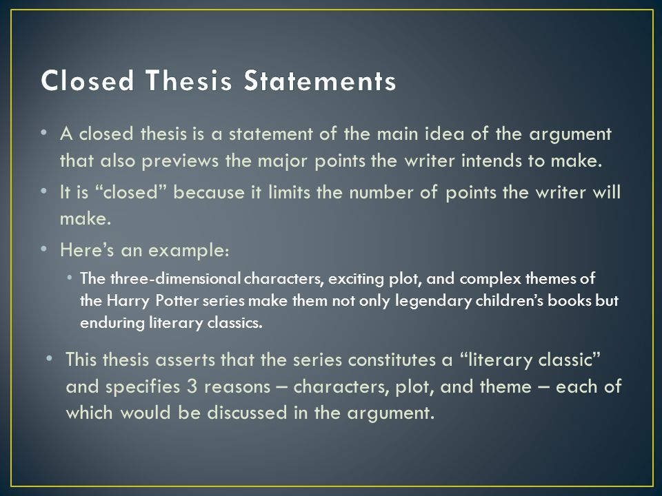 Write my closed thesis