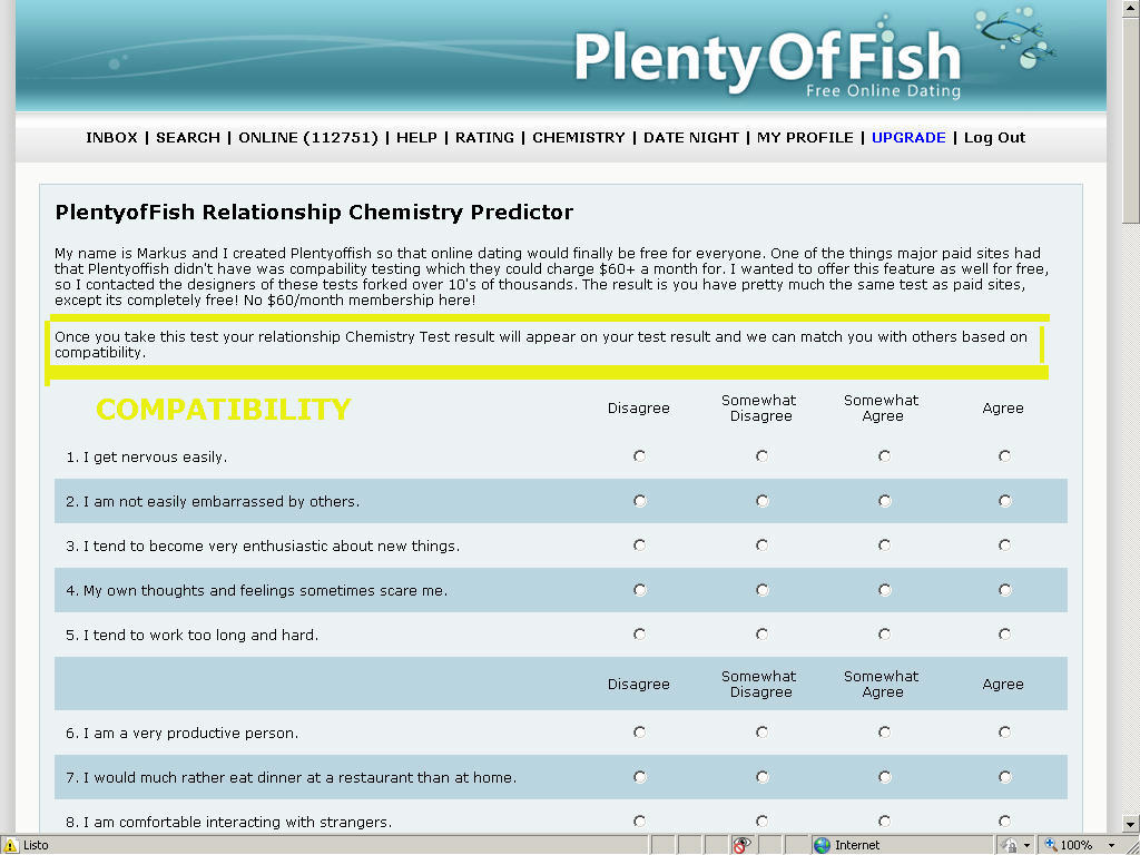 Free personality test, type descriptions, relationship and