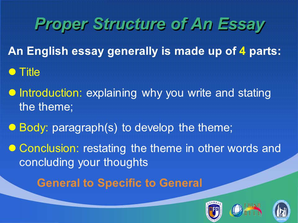 Stage 45 A basic essay structure - De Montfort University