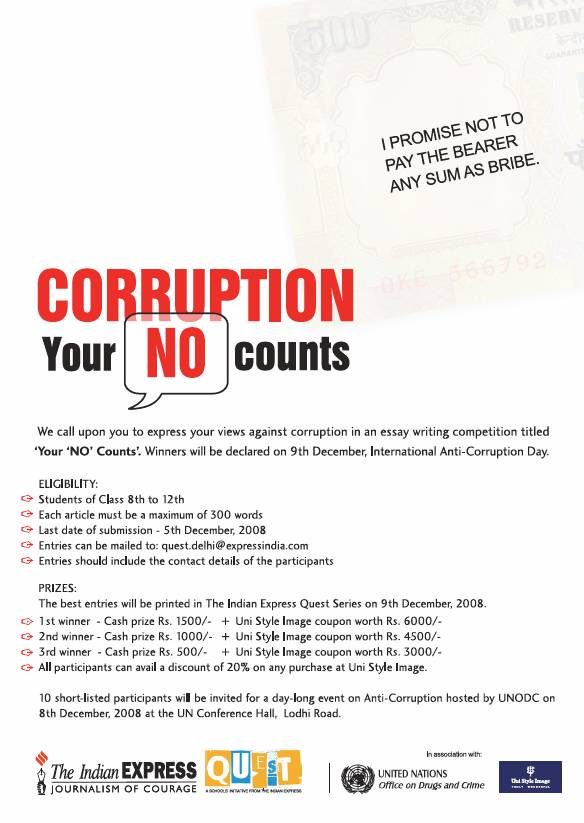 Write My Corruption Essays In English Detailed Essay On Corruption In English Creative Writing