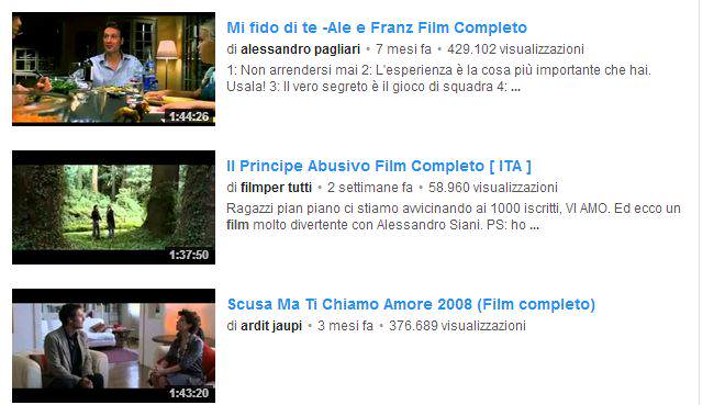 Film completi su Youtube - guideitechcom