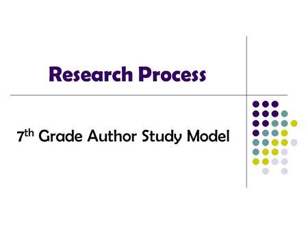 6th grade research paper
