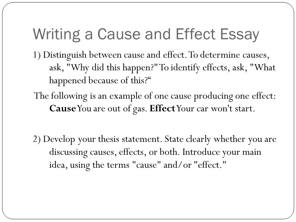 Write my cause and effect essay layout