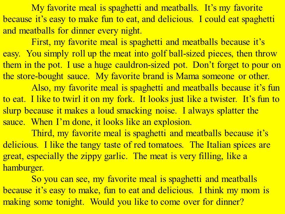 Essay Favorite Food
