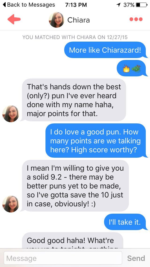 Dating profile puns