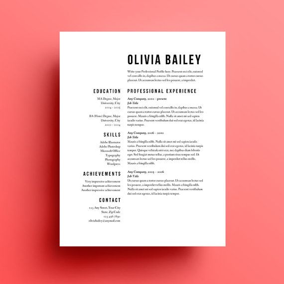 Best 25+ Resume design ideas on Pinterest Cv design, Cv ideas - proper font for resume