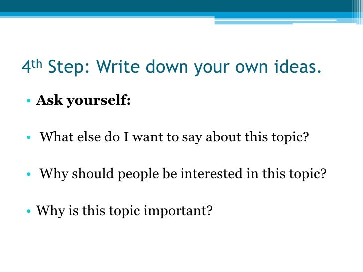 10 steps to writing an essay