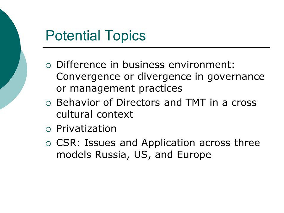 Business management thesis topics