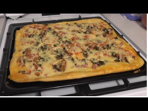 Рецепт пиццы быстро и вкусно в духовке на дрожжах