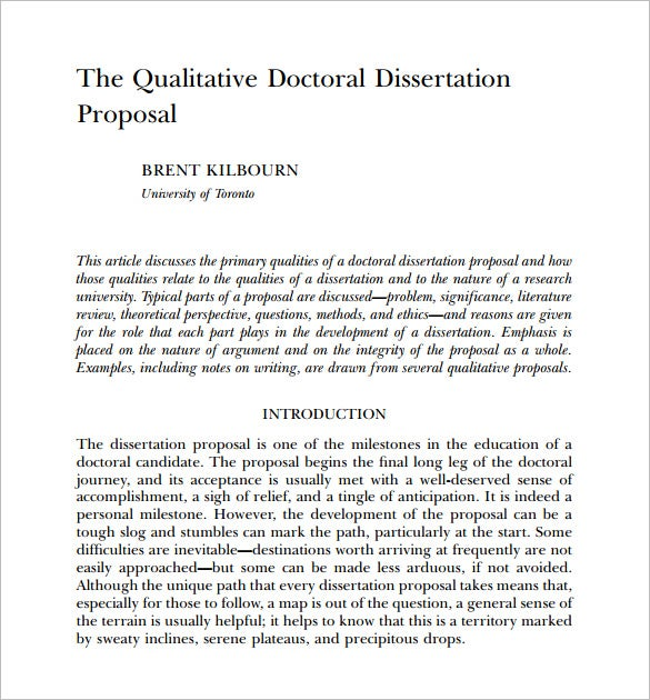 how to write a phd dissertation proposal