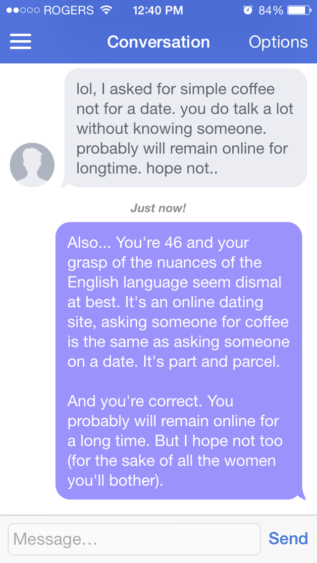 sample first message on dating site