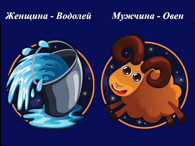 Гороскоп совместимость мужчи  овен и женщи  водолей