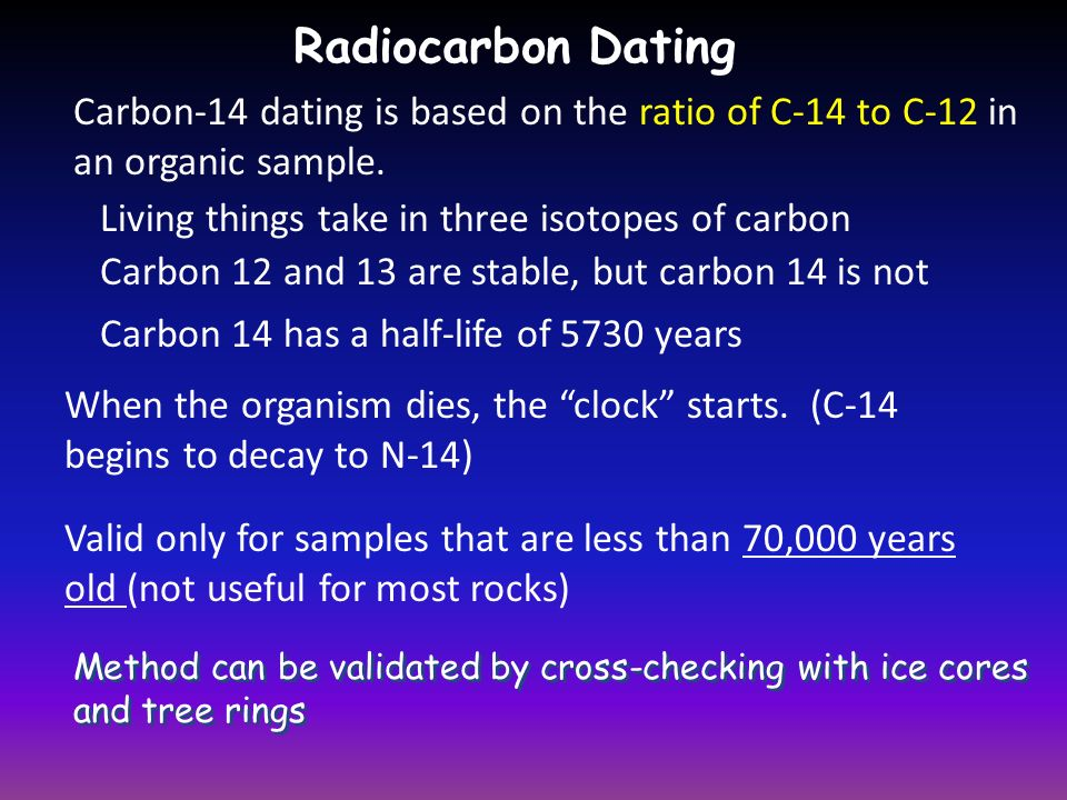 Radiocarbon dating question? - Yahoo Answers