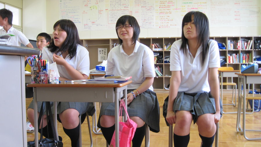 Japanese high school dating game