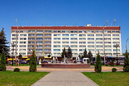 гостиницы гомеля на карте