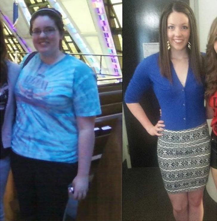 Похудеть быстро до и после - До и после похудения