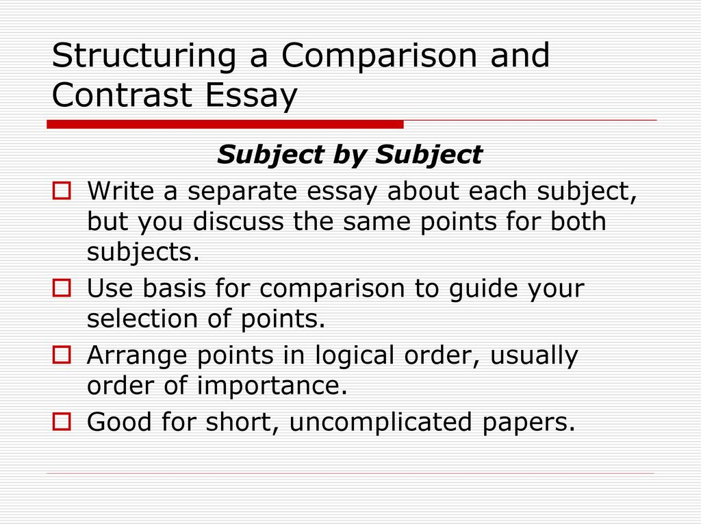 Write my compare and contract essay