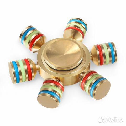 Спиннер ручной spinner антистресс спинер тройной пластик металл