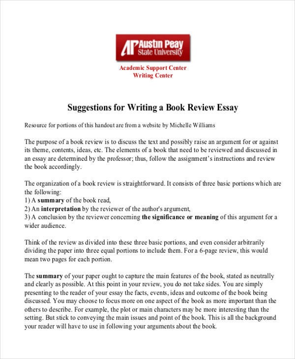 Example of book review paper