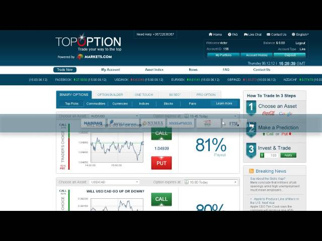 Tos and binary options trading signals franco forums