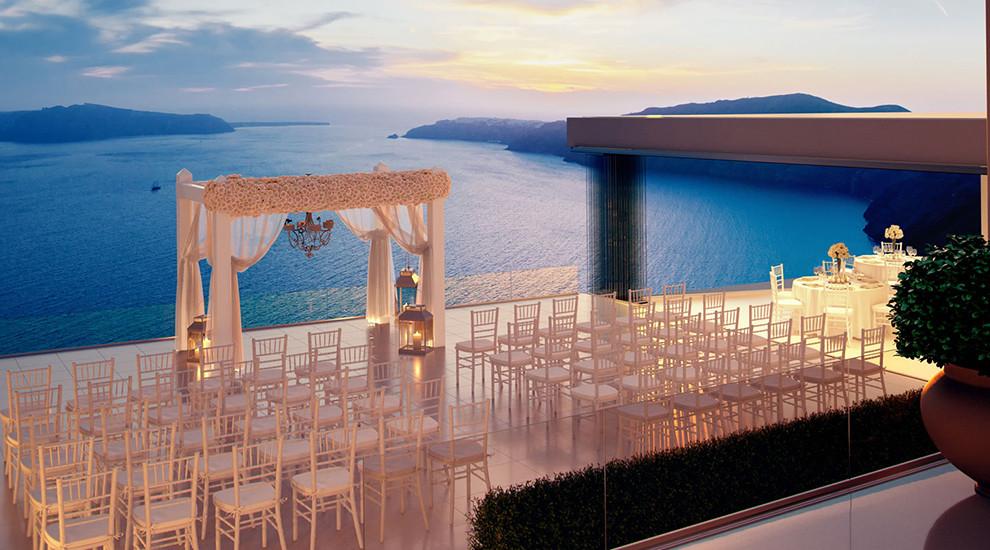 Однокомнатную квартира в остров Санторини у моря