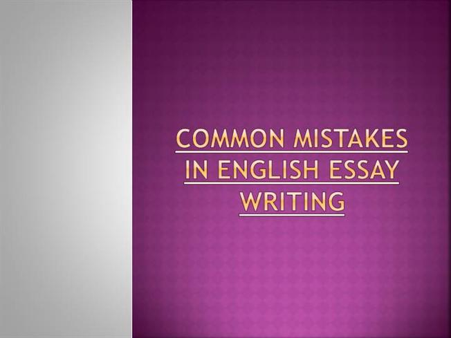 Grammatical mistakes in essay writing