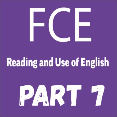 Reading 1 — FCE Exam Tips