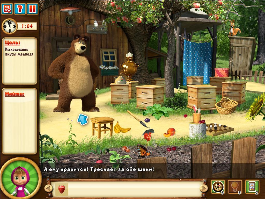 Маша и Медведь играть онлайн бесплатно без