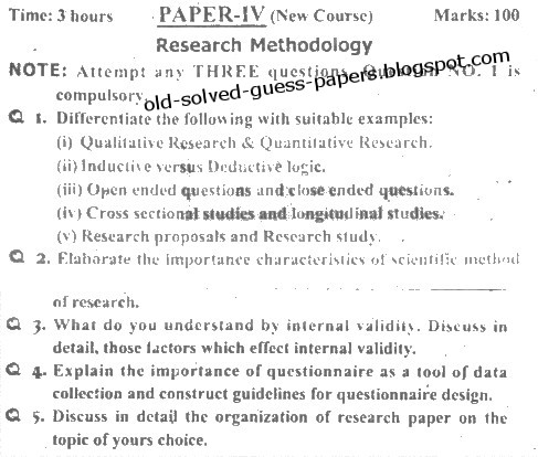How to write a methodology section for a research paper