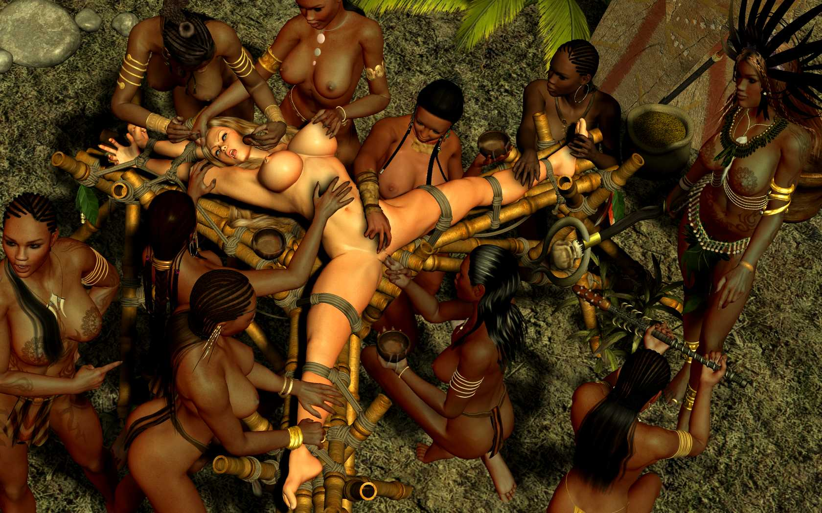 Sex with amazon women, naked in gran canaria