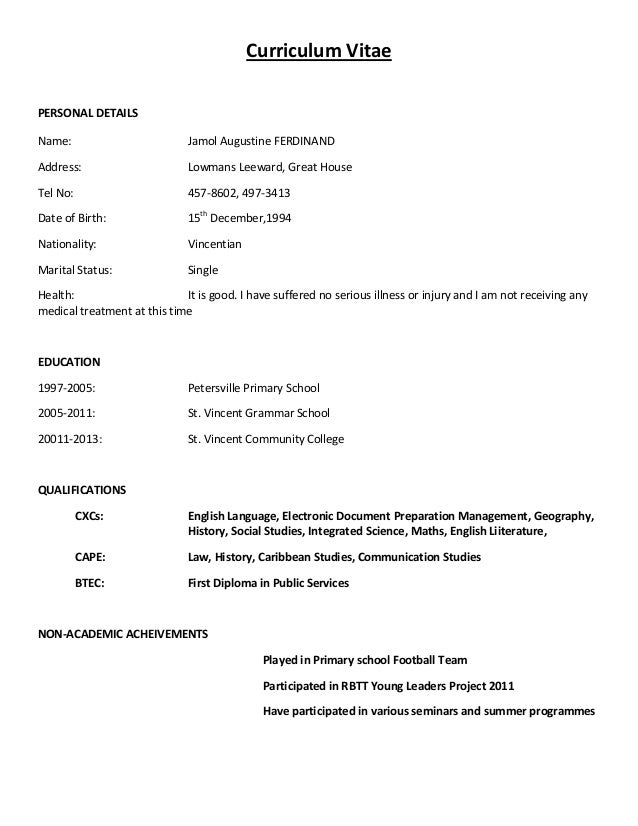 sample cv format exolgbabogadosco - Sample Of Resume Format