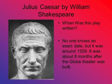 Julius Caesar Essay Questions - GradeSaver