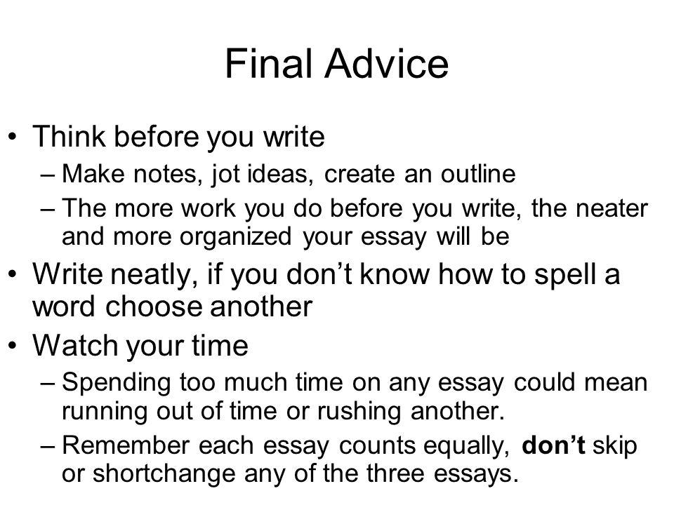 Essays - College Admission