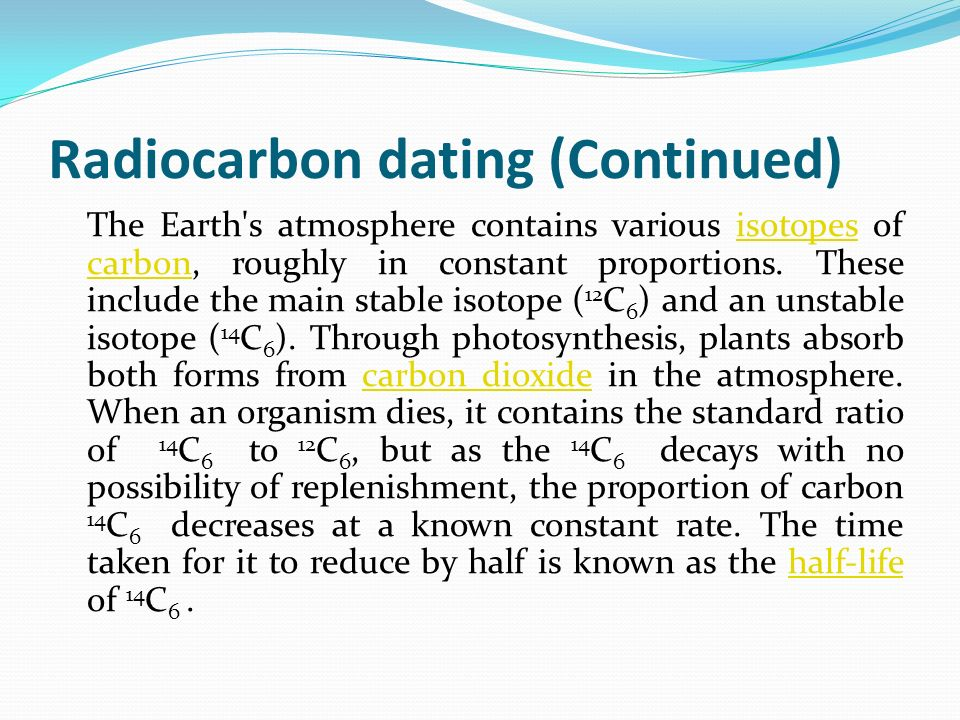 Radiocarbon dating biology definition