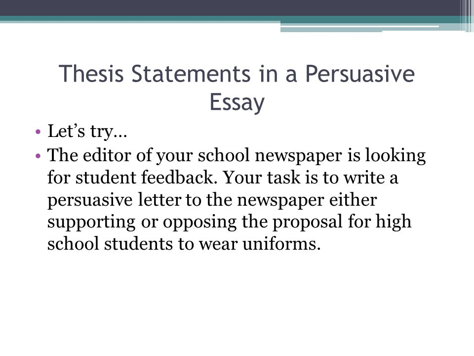 Write My Examples Of Thesis Statements For Persuasive Essays Purdue Owl Creating A Thesis Statement