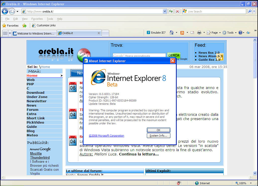 Internet Explorer 8 Developer Tools (Windows)