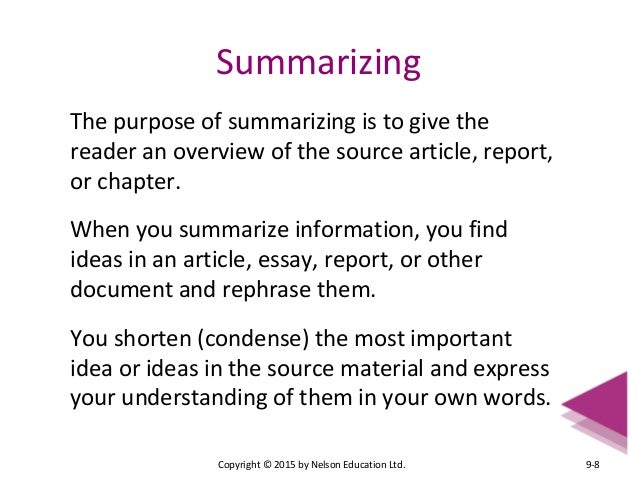 How to Write a Book Plot Summary Essay - Pen and