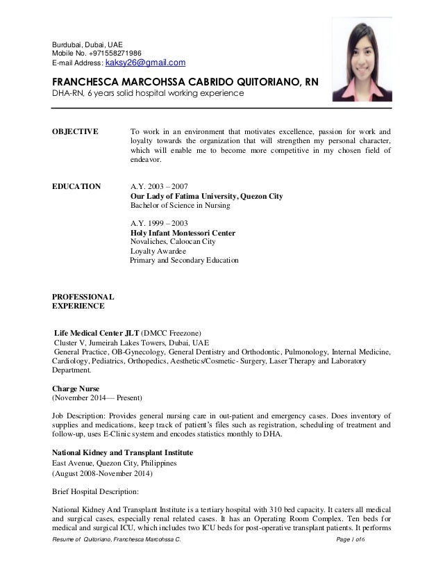 cv samples for nurses toretoco - Resume Format For Nurses